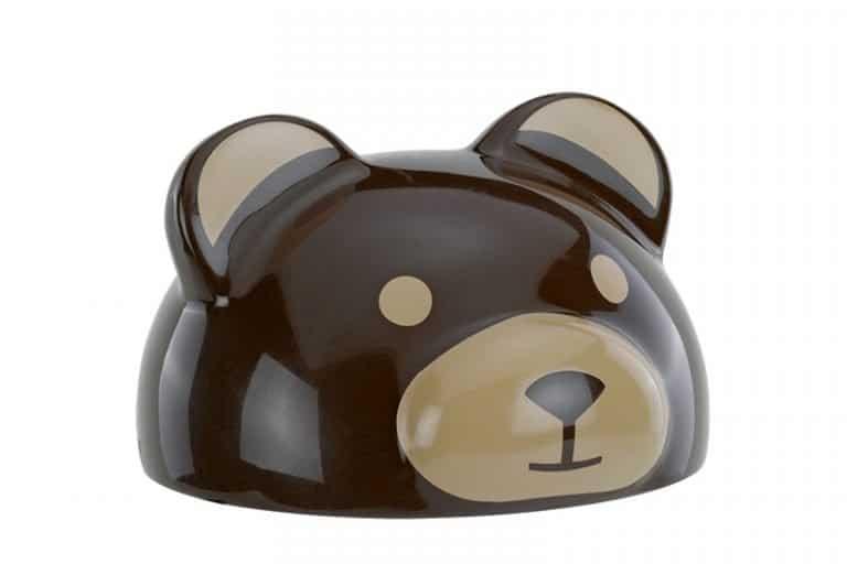 Formteil Bär bedruckt