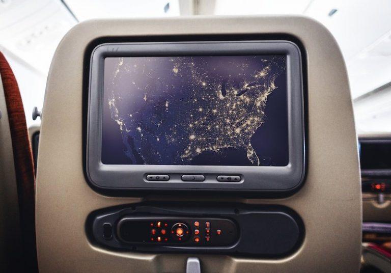 Tampondruck Beispiel Flugzeugsitz